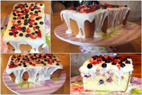 Verry Berry Pound Cake